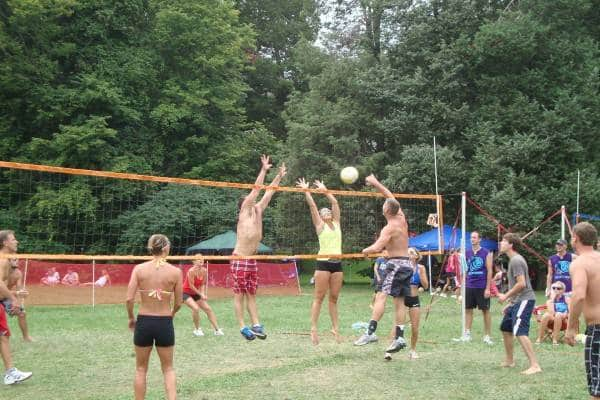 Annual Volleyball Battle on Put-In-Bay