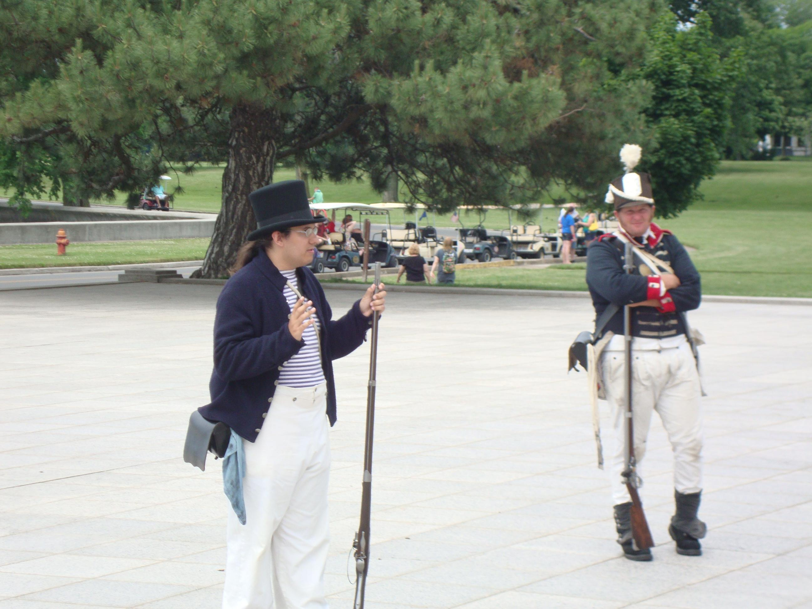 Historical Reenactments at the Monument