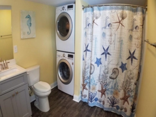Put-in-Bay Waterfront Condos Bath and Laundry